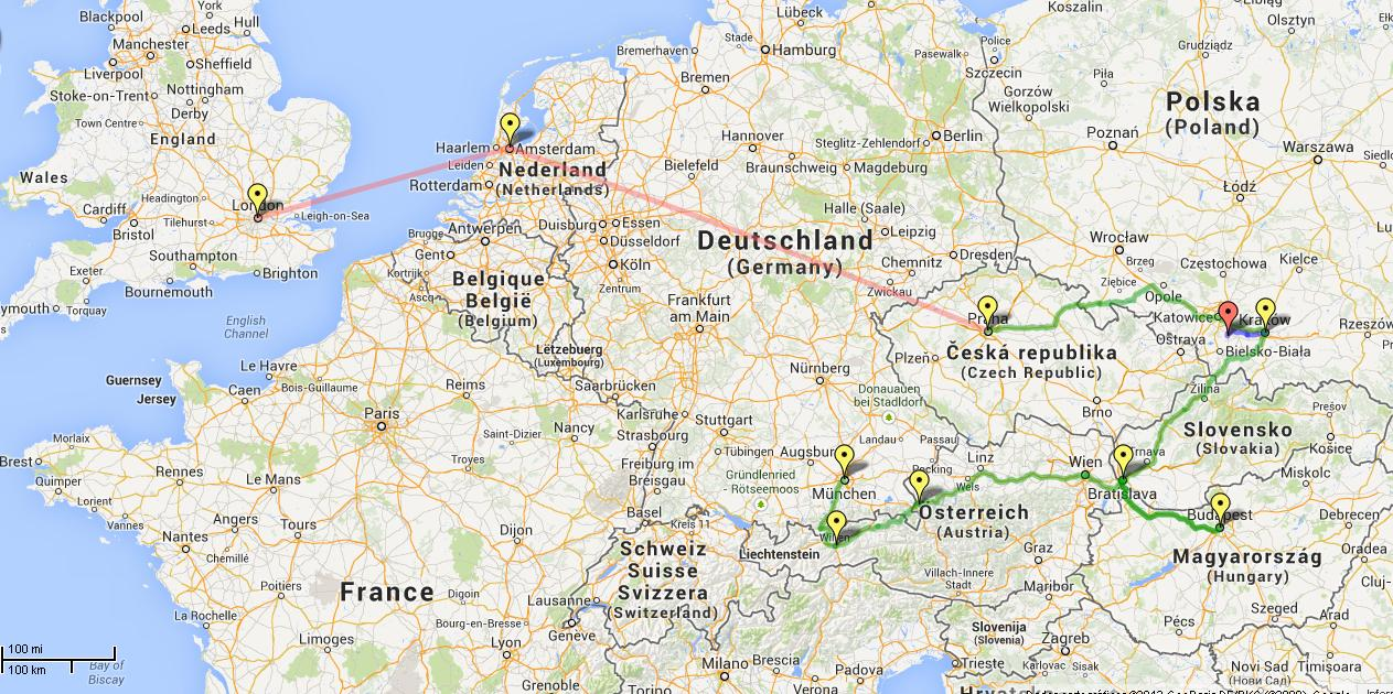 Londres, Amsterdam, Praga, Cracóvia, Auschwitz, Budapeste, Bratislava, Salzburgo, Innsbruck e Munique - Roteiro europa - leste europeu
