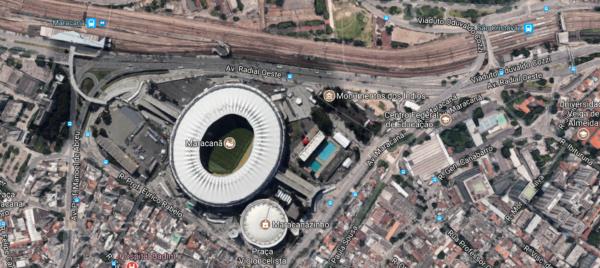 Localização do Maracanã